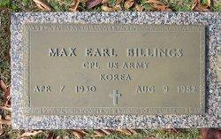 Max Earl Billings