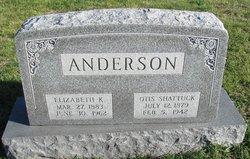 Elizabeth K. Lizzie <i>Kennedy</i> Anderson