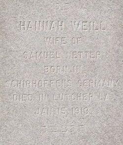 Hannah <i>Weill</i> Netter