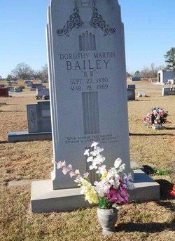 Dorothy A <i>Martin</i> Bailey