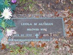 Leola Bessie Lee <i>Morris</i> Altman