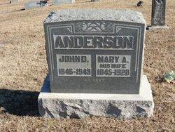 Mary Ann <i>Lipscomb</i> Anderson