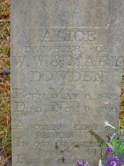 Alice C Dowden
