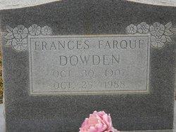 Frances <i>Farque</i> Dowden