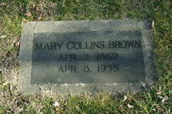 Mary <i>Collins</i> Brown