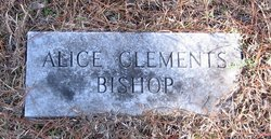 Alice <i>Clements</i> Bishop