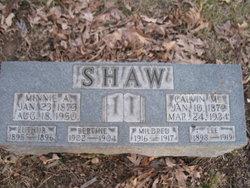 Adelia Minnie <i>Martin</i> Shaw