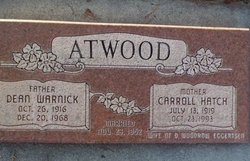 Carroll <i>Hatch</i> Atwood