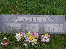 Sidney Edward Sid Ables