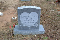 Dorothy <i>Hayes</i> Baker