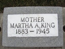 Martha A. <i>Langford</i> King