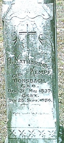 Mrs Anna Katharina <i>Donsbach</i> Kempf