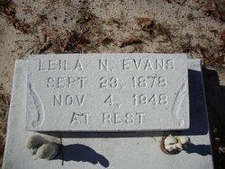 Leila N <i>Giddens</i> Evans