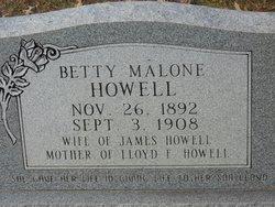 Betty <i>Malone</i> Howell