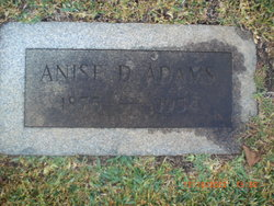 Anise Dinah <i>Wright</i> Adams