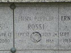 Emma <i>Peppler</i> Rossi