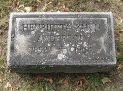 Henrietta <i>Kuhn</i> Anderson