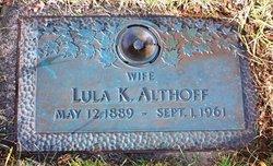 Mary Louisa Lula <i>Keller</i> Althoff