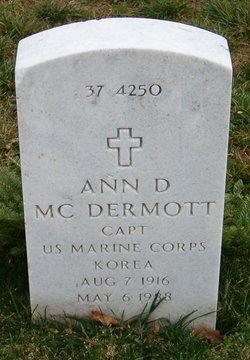 Capt Ann D McDermott