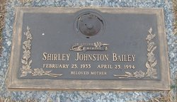 Shirley Ann <i>Johnston</i> Bailey
