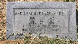 Annie Kathlyn <i>Mason</i> Church