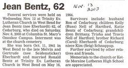 Jean B. <i>Eberhardt</i> Bentz
