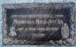 Nicolasa <i>Ruiz</i> Acuna