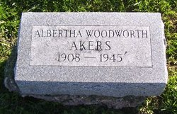 Albertha <i>Woodworth</i> Akers