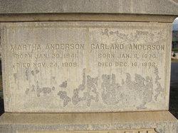 Martha Ann <i>McDaniel</i> Anderson