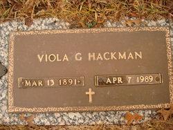 Viola G Hackman