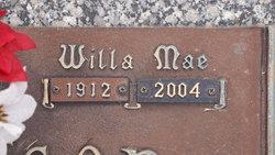 Willa Mae Willie <i>Hogan</i> Anderson