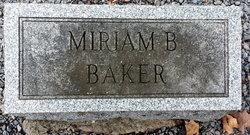 Miriam B <i>Ellis</i> Baker