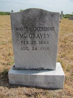 Martha Catherine <i>Duckett</i> McCravey