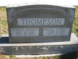 Fannie Ercell <i>Corbett</i> Thompson
