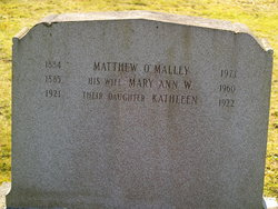 Mary Ann <i>Wilcox</i> O'Malley