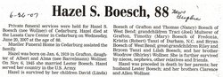 Hazel S <i>Wollner</i> Boesch