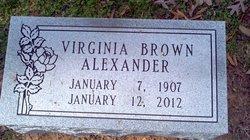 Virginia <i>Brown</i> Alexander