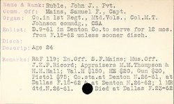 Pvt John Jefferson Ruble