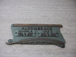 Frances M Alcumbrack