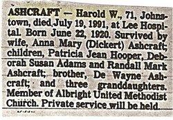 Harold W. Ashcraft