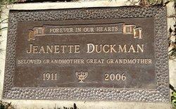 Jeanette Mae <i>Gordon</i> Duckman