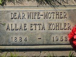 Allae Etta Kohler