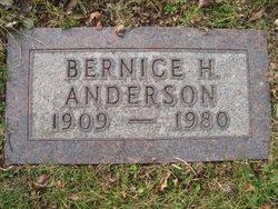 Bernice H Anderson