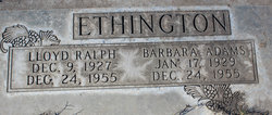 Barbara <i>Adams</i> Ethington