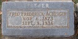 Fred Frederick Achziger
