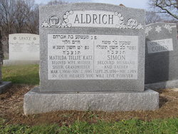 Matilda Tillie <i>Katz</i> Aldrich