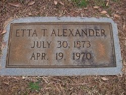 Etta Mayes <i>Thomas</i> Alexander