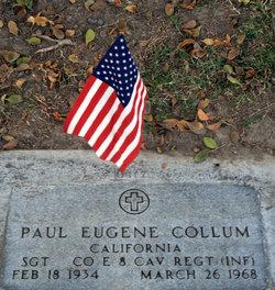 Sgt Paul Eugene Collum
