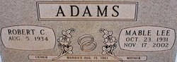 Mable Lee <i>Bostic</i> Adams