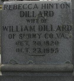 Rebecca <i>Hinton</i> Dillard